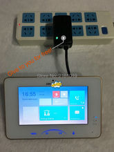 Hikvision DS-KH8301-A (DS-KH8301-WT) Indoor Video Touchscreen 7 zoll Monitor 1024X600 0.3MP kamera, Tf-einbauschlitz, drahtgebundenen intercom