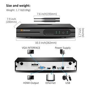 Image 4 - Jennov sistema de cámara de seguridad inalámbrica HD, Kit NVR de 5MP y 4 canales, cámara IP de videovigilancia para exteriores, WiFi, videovigilancia H.264 + sistema de Audio