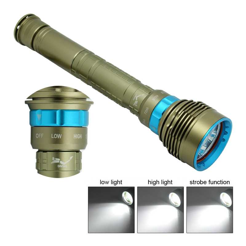 New 10000 Lumen Underwater Flashlight 7x XM-L2 LED Scuba Diving Flashlight Diver Torch Light 26650 Lanterna With Battery Charger hot 10000 lumen 6x xm l l2 led scuba diving flashlight 200m waterproof diver torch light 26650 lanterna with battery charger