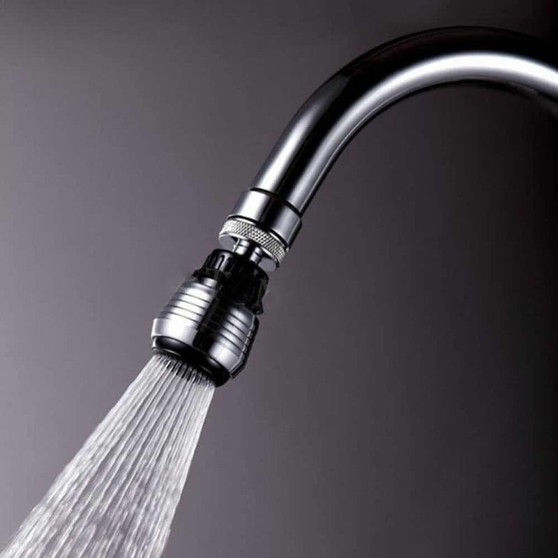 360 Rotate Swivel Nozzle Filter Adapter Faucet Water Saving Tap Aerator Diffuser