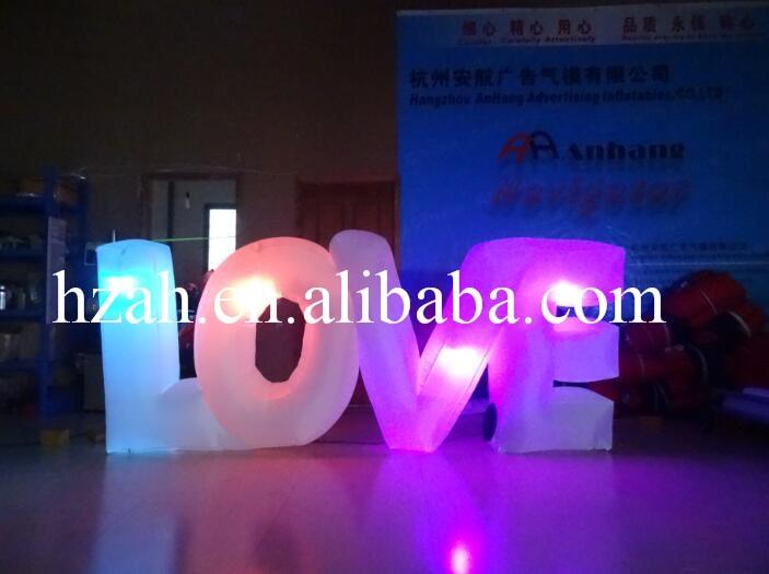 Inflatable LED Light Letter LOVE
