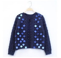 Hchenli Brand 2018 Women Sequins Crocheted Sweater Cardigan Spring Autumnn Clothing Tassel Sweatershirt High Quality Clothes
