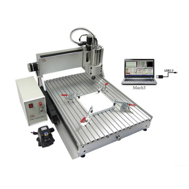 Mini cnc router 6040 2.2kw cnc spindle 3 axis CNC milling machine for metal stone cutting, Russia free tax russia no tax diy 3040 4axis mini cnc router engraving drilling and milling machine for wood metal cutting