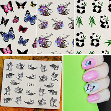 50sheets Mixed Designs Water Transfer Nail Art Sticker Watermark Decal DIY Decoration For Beauty Nail Tool Random Patterns SAM50