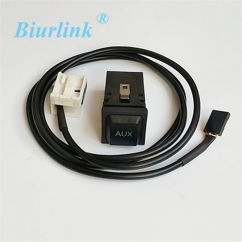 biurlink rcd510 aux housing switch plug button with cable. Black Bedroom Furniture Sets. Home Design Ideas