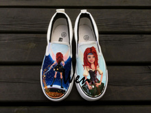 Wen Design Hand Painted Shoes Slip On Shoes Custom The Pirate Fairy Women Men's Canvas Shoes Christmas Gifts
