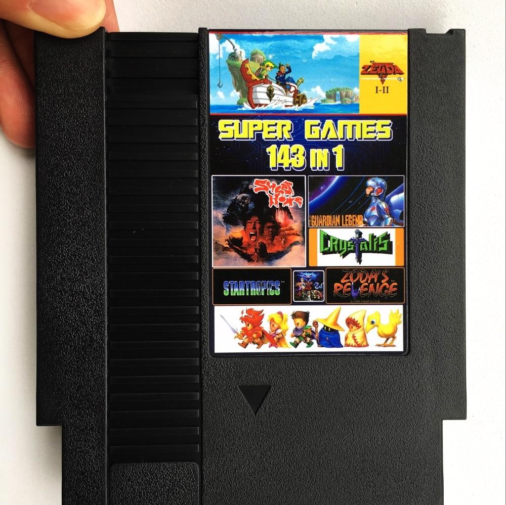 143 In 1 72 pins 8 bit Game card with game Final Fantasy 1 2 3/Moro Bros 1 2 3/Contra/Little Samson/Tetris1 2/Star War/Turtles1