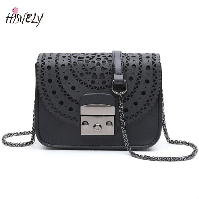 HISUELY Vintage Hollow Out Women Crossbody bags Ladies shoulder bags small  casual Purse Designers Chain Handbag d4456967001ee