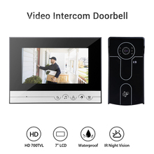 7 Wired Video Door Phone Visual Intercom Doorbell Monitor with 1*800x480 Monitor+1*700TVL Outdoor Camera for Home Surveillance цена