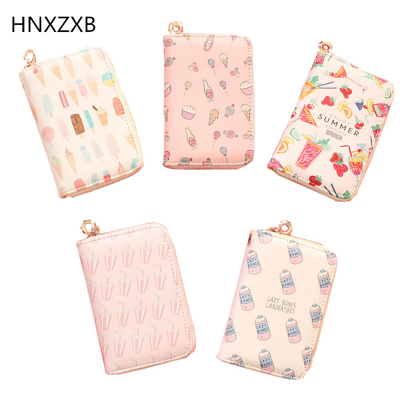 High Quality PU Leather Wallets Women Lovely Letter Priting Zipper & Clasp Coin Pocket Short Purse Clutch Small Wallet Female moana maui high quality pu short wallet purse with button