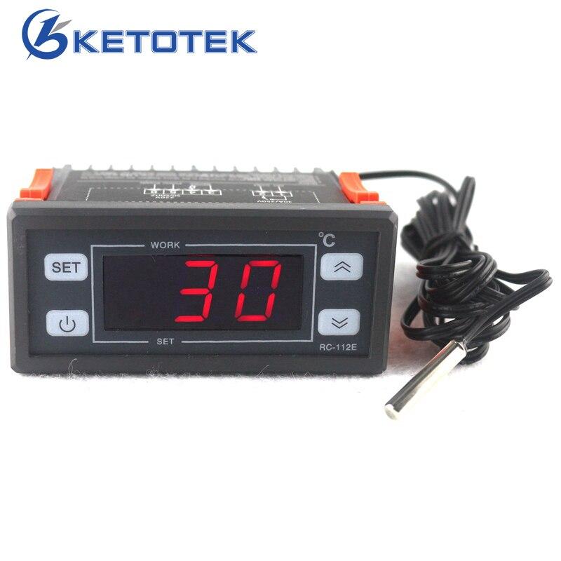 AC 220 V 30A LED Display Digital Termostato Controlador Regulador de Temperatura com sensor NTC
