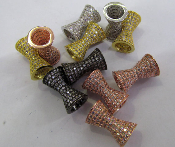 10pcs 10x20mm 24K gold CZ,Micro Pave set cubic zirconia beads bicone diamond Speaker gunmetal silver rose gold charm connector10pcs 10x20mm 24K gold CZ,Micro Pave set cubic zirconia beads bicone diamond Speaker gunmetal silver rose gold charm connector