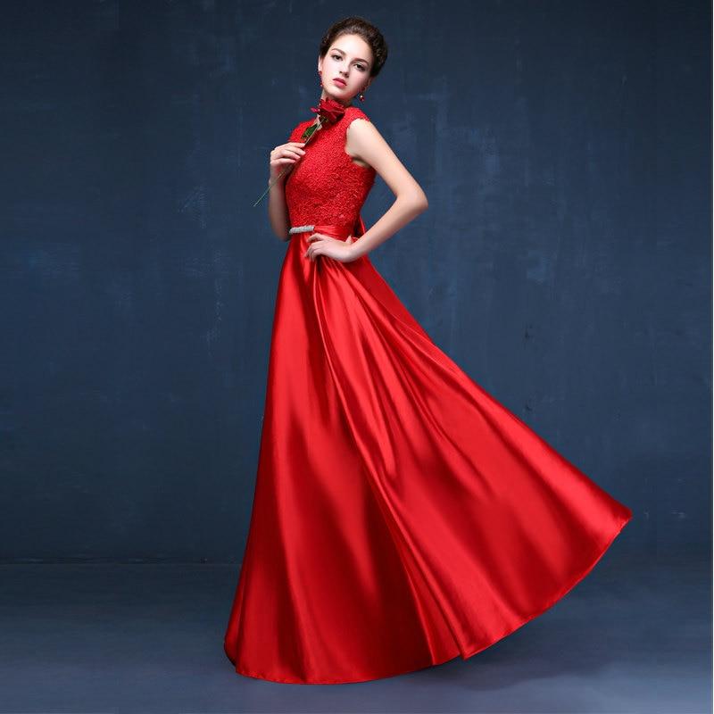 CX SHINE Custom size! Elegant lace long Evening dress tanpa lengan - Gaun acara khas - Foto 5