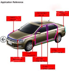 Image 5 - 8Meter Big D Type Filler Adhesive Car Rubber Seal Sound Insulation Waterproof Anti Dust Car 3M Door Seal Strip Weatherstrip