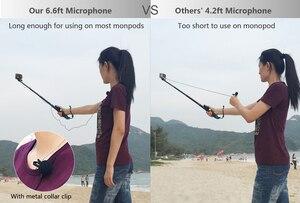 Image 5 - QIUNIU חיצוני מיקרופון מיקרופון + שקוף שלד שיכון מקרה עבור GoPro Hero 4 3 + 3 פעולה מצלמה עבור ללכת פרו אבזרים