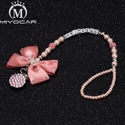 MIYOCAR розовые блестящие стразы, держатель для соски с зажимом, держатель с зажимом для соски-пустышки, уникальный подарок для ребенка
