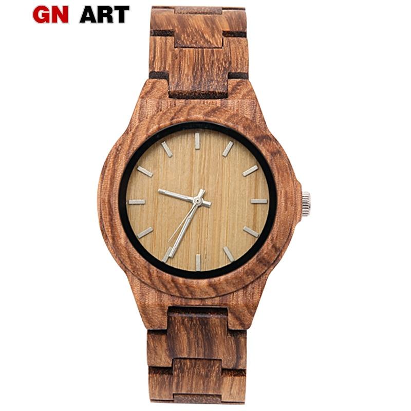Reloj de madera GNART relojes deportivos de hora Digital para mujer 2018 pesadilla antes de Navidad 20mm correa de reloj de madera a cuadros