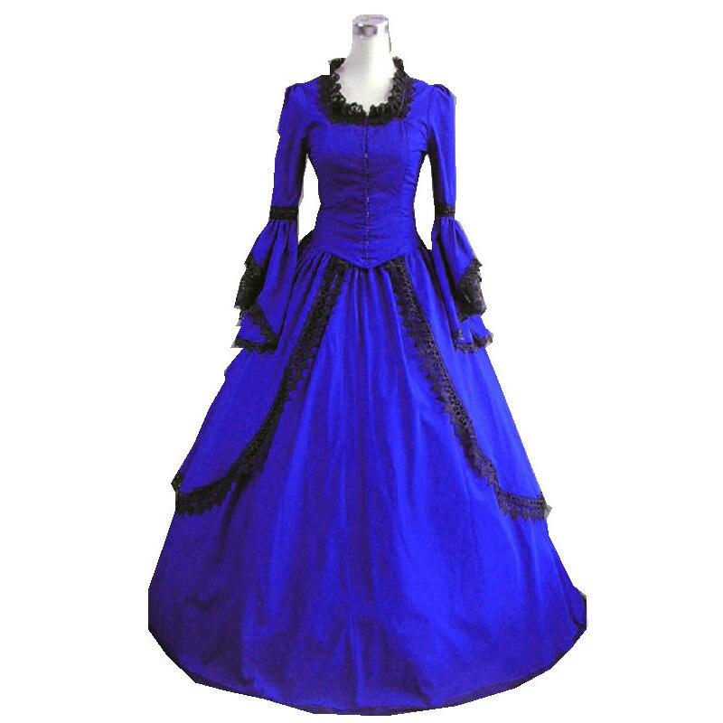 2017 nouveau Corset victorien gothique/guerre civile sud Belle robe de bal robe Halloween robes US4-16 V-27