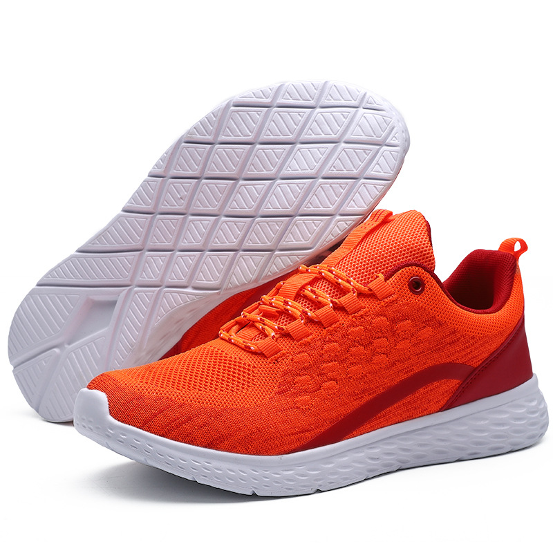 2019 Men's Flyknit Casual Shoes Mesh Breathable Loafers Walking Comfortable Sneakers Men Casual Shoes Tenis Outdoor Shoes