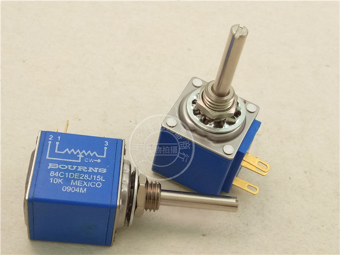 Original new 100% Mexico import 84C1DE 28J15L 10 circle 10K multi cycle potentiometer axle length 22X3MM (SWITCH) 2pcs bag mexico mexico potentiometer 9743x model 100k axis length 22mm