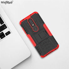 hot deal buy for cover nokia 6.1 plus case tpu&pc holder armor bumper protective phone case for nokia 6.1 plus cover for nokia x6 2018 5.8''