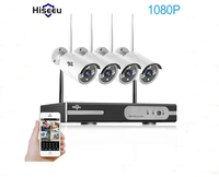 1080P Wireless CCTV System 2MP 4CH Powerful NVR IP IR CUT Bullet CCTV Camera IP Security