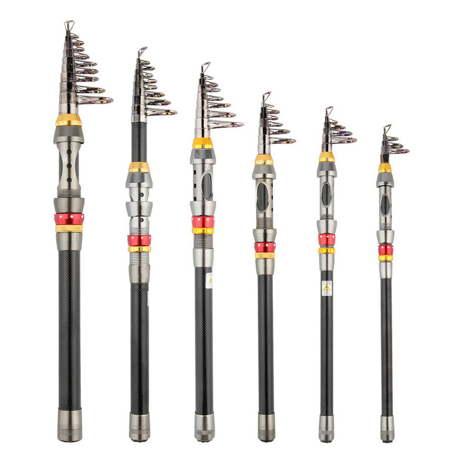 Wholesale Super Light Carbon Portable Telescopic Pole Saltwater Casting Spinning Fish Pole Hand Sea Fish Tackle Drop shipping