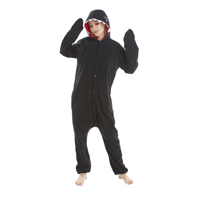 3c59cfc8da01 JINUO black shark Hot sale animals cosplay cartoon costumes animal sleepwear  adult fleece pajamas onesies pyjamas long sleeve