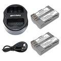Batmax 2 unids en-el3e en el3e enel3e baterías y cargador usb dual para nikon enel3e en el3e d50 d30 d90 d70 d70s d300 cámara
