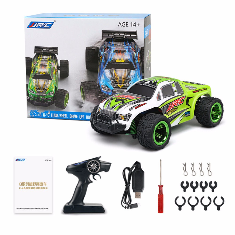 RC Monster Truck RTR 30km/H Aluminum Alloy Chassis / LCD Screen Transmitter 1:26 Mini Brushed Off-Road JJRC Q35 RC Racing Car jjrc h5p transmitter