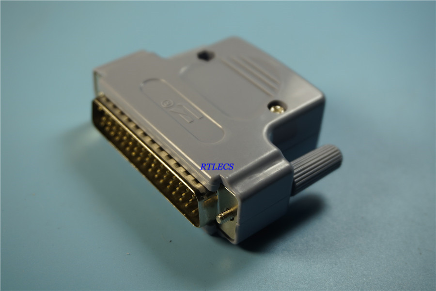 20Pcs D Sub Connector 50 Position 3 Rows Plug Male Wire Solder Type 50 Pin Industrial