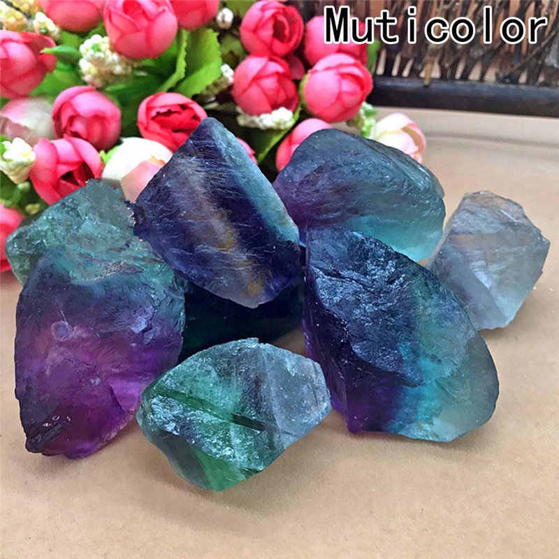 1pc New Natural Rare Fluorite Crystal polish Stone Rocks Gemstone Specimen Color crystal love natural stones Minerals 5 Sizes