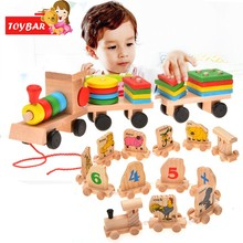 Funny Learning Education Toy Stacking Train For Baby Boy Kids Girls Children Wooden Toys Puzzles Wood