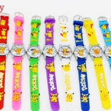 Good Gift! 10pcs/lot Cartoon Pattern Boys Girls Students Kids Pikachu Silicone N