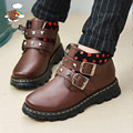 2017 autumn and winter boys absolutely true genuine leather shoes boy children fashion shoes kids flats shoes boys black school