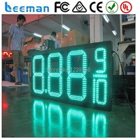 Leeman 10inch 24 Led Gas Price Digital Display Outdoor Remote Led Gas Price Changer Led Gas