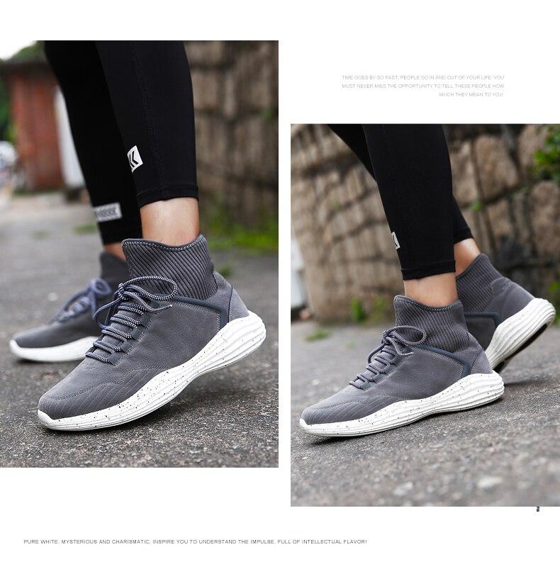 US $51.41 |SOCONE Lace Up Confortevole A Piedi Scarpe Da Uomo di Sport del Cuoio Genuino Scarpe Da Tennis di Disegno Calzino Morbido scarpe Da