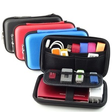 2.5 inch  3 Colors Large Cable Organizer Bag Carry Case HDD  USB Flash Drive Memory Card Phone