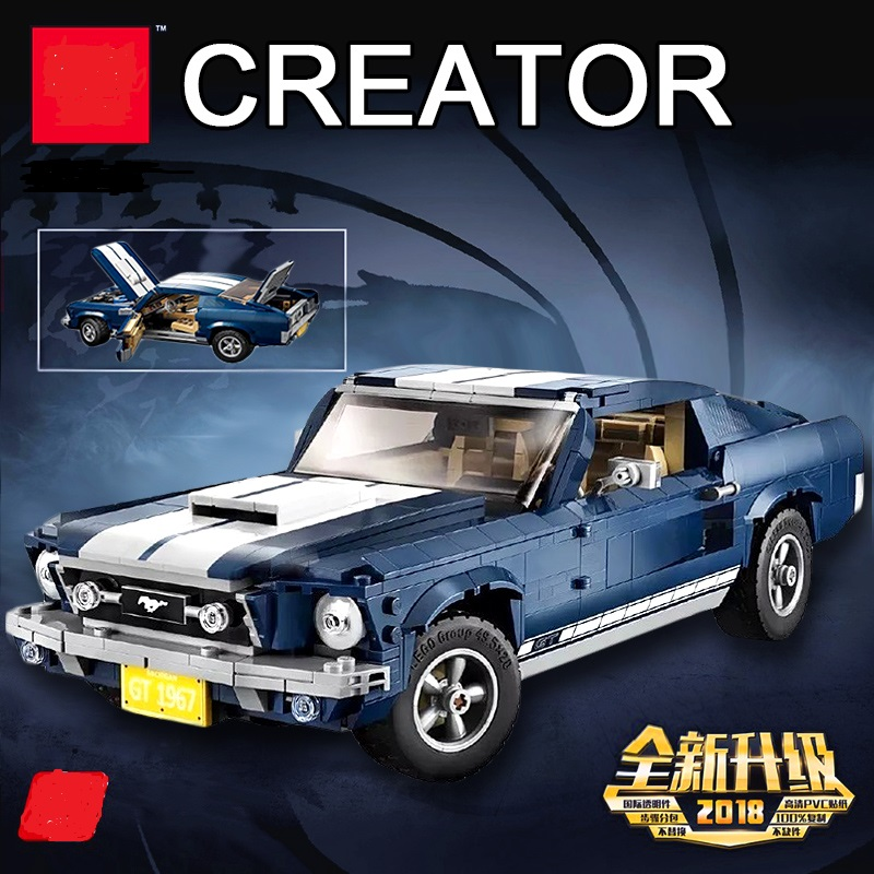 NEW 1648PCS Creator Expert Ford Mustang 1967 Model Building Blocks Bricks Toys Gifts Compatible 10265