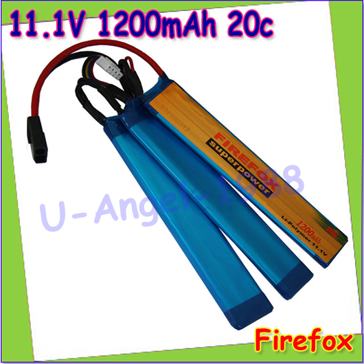 wholesale 1pcs 100 Orginal FireFox 11 1V 1200mAh Li Po Polymer 3 cell Battery 20C F4R12C