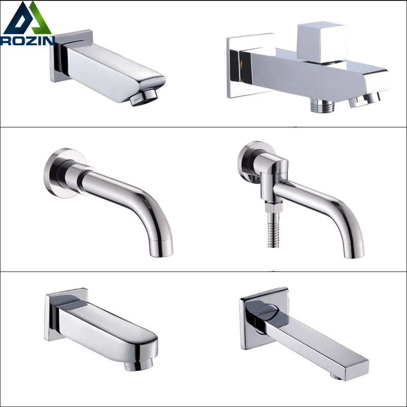 Free Shipping Chrome Brass Tub Filler Wall Mounted Bath