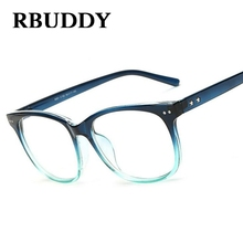 b7cdd273b8 RBUDDY Brand Designer Square Gradient Women Optical Clear Len Glasses  Frames For