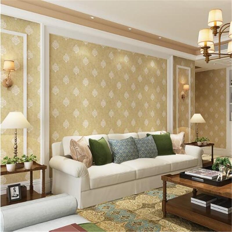 Beibehang salon papier peint simple moderne mode tissu européen chaud romantique salle de mariage maison papier peint papel de parede
