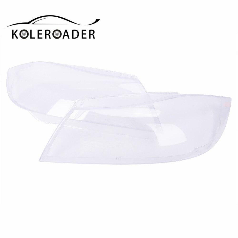 KOLEROADER 1Pair Headlight Clear Lens Plastic Shell Cover For BMW E90 Sedan / E91 Touring 2004 - 2007 Car Styling isincer car headlight lens for bmw f30 headlamp cover case shell lamp assembly f30 f31 2013 2016 car styling accessary
