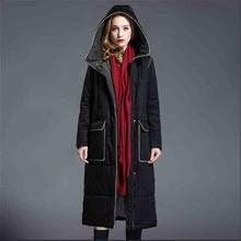 2016 New Spring Jacket Women Winter Coat Women's clothing Warm Outwear Cotton-Padded Long Jacket Coat Hooded Trench Coat G2770