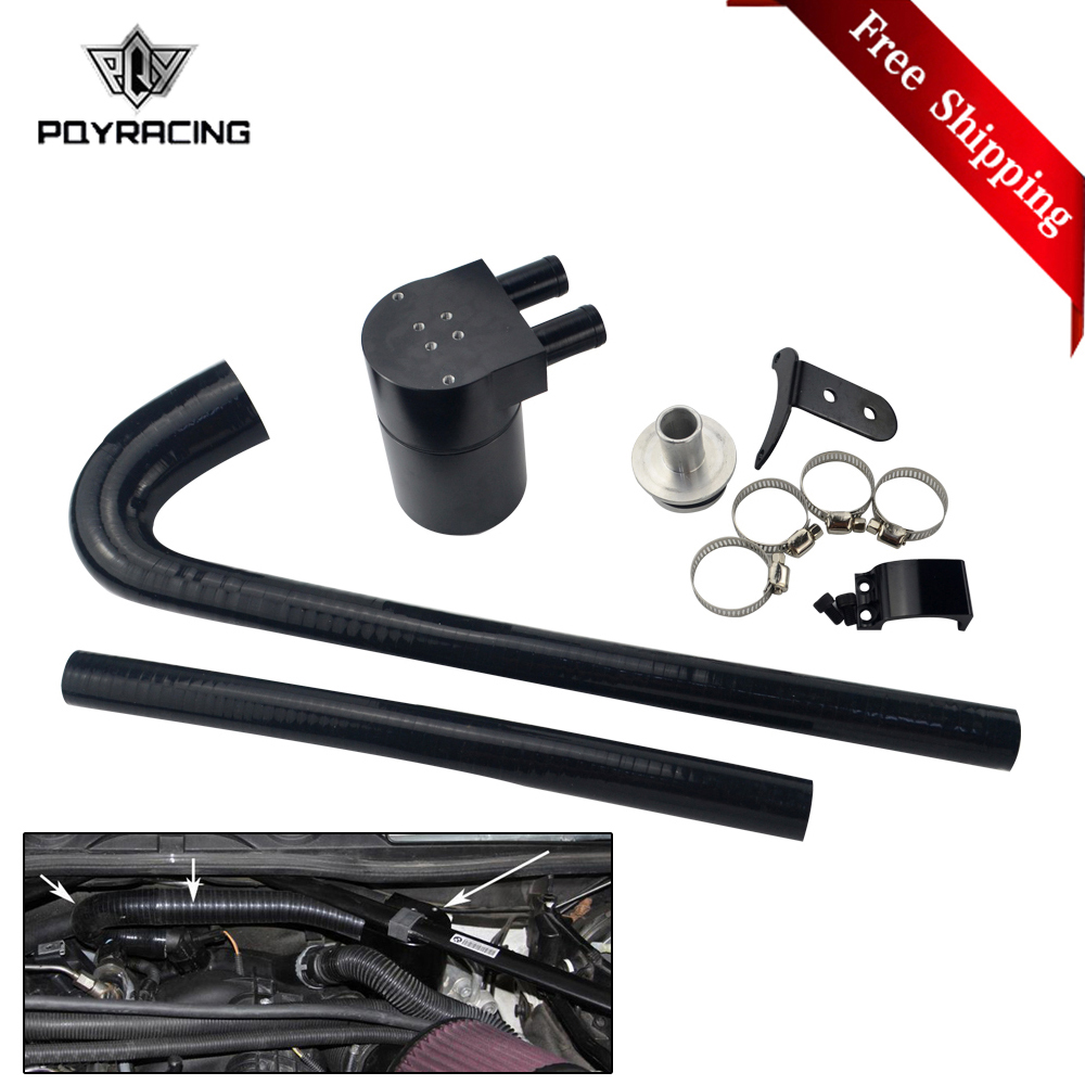 Free Shipping Black Baffled Oil Catch Can Tank with radiator hose for BMW N20/N26 PQY-TK59Free Shipping Black Baffled Oil Catch Can Tank with radiator hose for BMW N20/N26 PQY-TK59