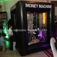 Black inflatable money machine/giant advertising inflatable cash,money,coupon machine for entertainment