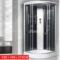 H8003 Household Bathroom Shower Room High quality Home One piece Integrated Bath Room Sauna Rooms Shower Rooms (100x100x210CM)