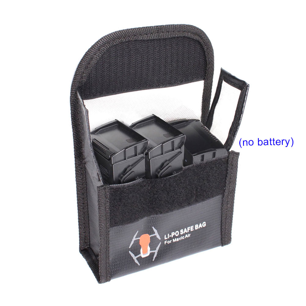 Safe Bag Explosion-proof Guard Lipo Large Accommodate 3 Batteries Durable For AIR AN88