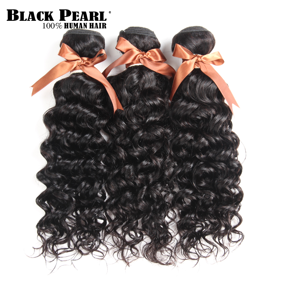 Blackpearl Water Wave Bundles Brazilian Hair Natural Color 3 Pieces 100 Human Hair Bundles 10 26